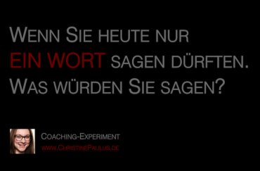 Coaching Göttingen Christine Paulus Wort
